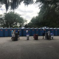 Port-A-Johns at Blue Crab Festival